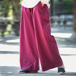 Vintage Water Wash Casual Wide Leg Pants