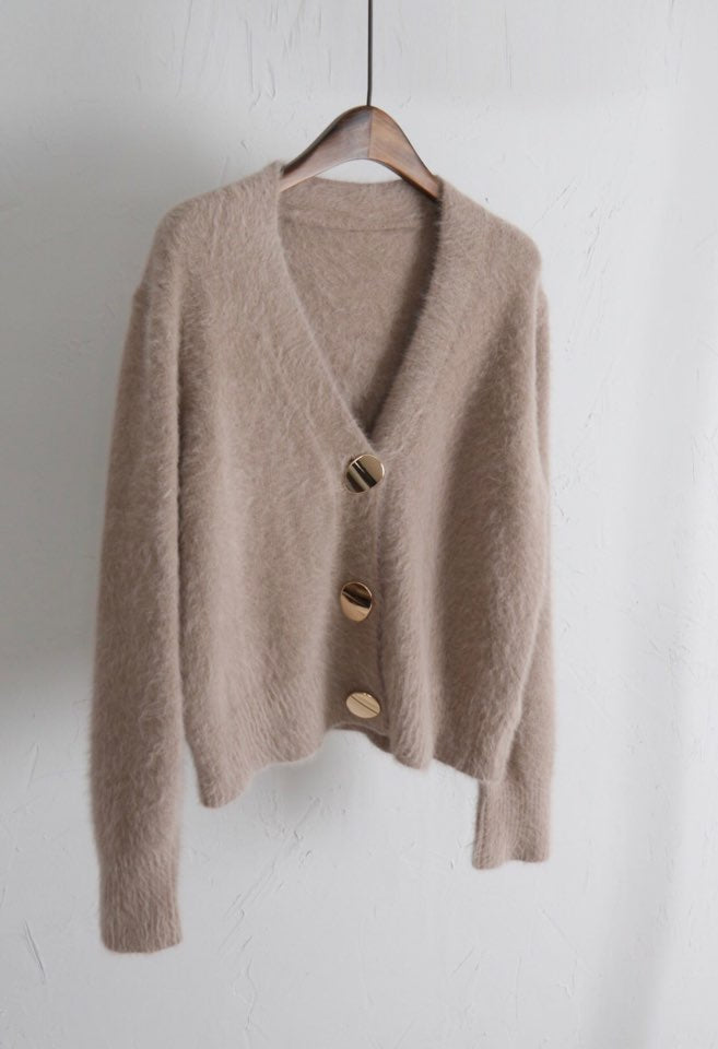 Solid Elegant Women Cardigans Casual V-Neck Knitted Women Sweaters Slim Autumn Winter Clothes