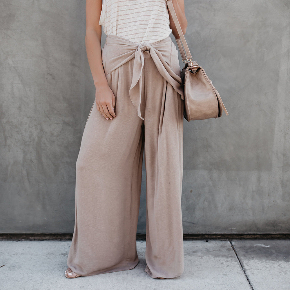 Wide Leg Pants New Autumn Sexy High Waist Bow Long Pants