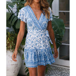 2019 Casual Ladies Summer Bohemian Mini Dress