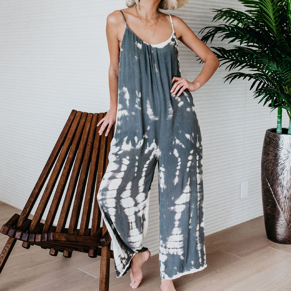 Boho Women Fashion Sling Print Jumpsuit