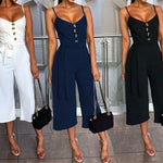Sexy V-neck Bow Lace Up Jumpsuit