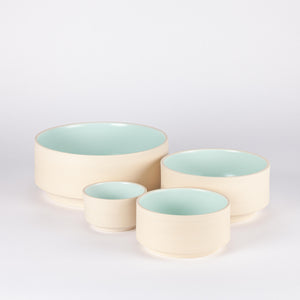 Atlas Salad Bowl, Natural & Mint