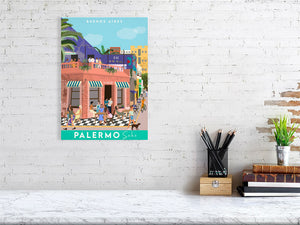 Travel poster of Buenos Aires Palermo Soho
