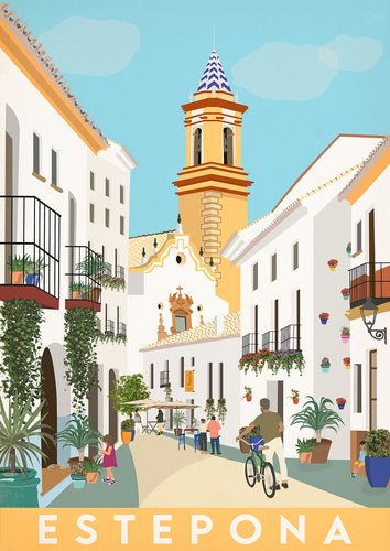 Travel poster of Estepona, Spain