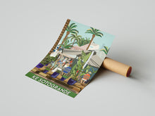 Load image into Gallery viewer, Vintage inspired travel poster of KE bar Sotogrande Cadiz