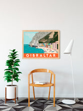 Load image into Gallery viewer, Gibraltar Catalan Bay Beach Print Travel Poster