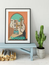 Load image into Gallery viewer, Vintage inspired travel print of Tangier, Morrocco