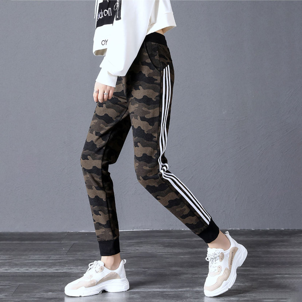 Striped Camouflage Sweatpants