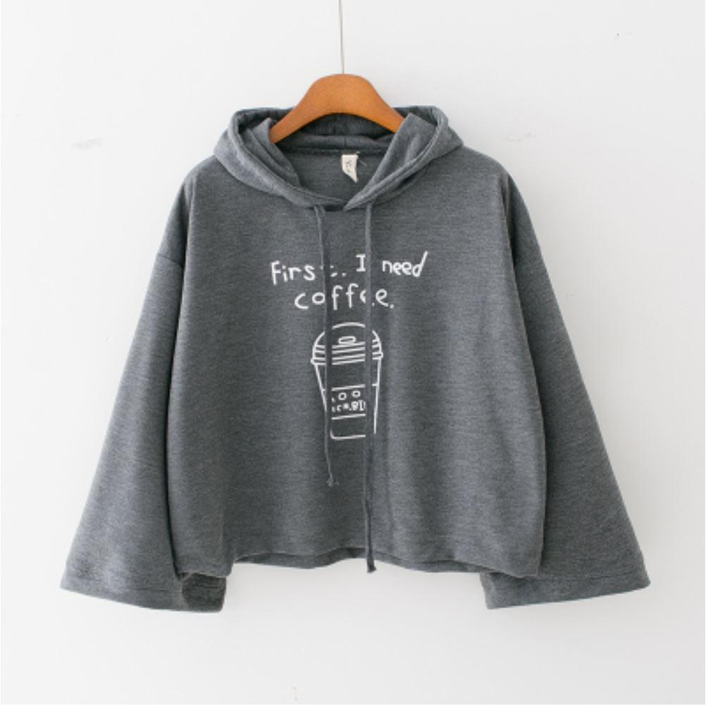 'First, I need Coffee.' Hoodie