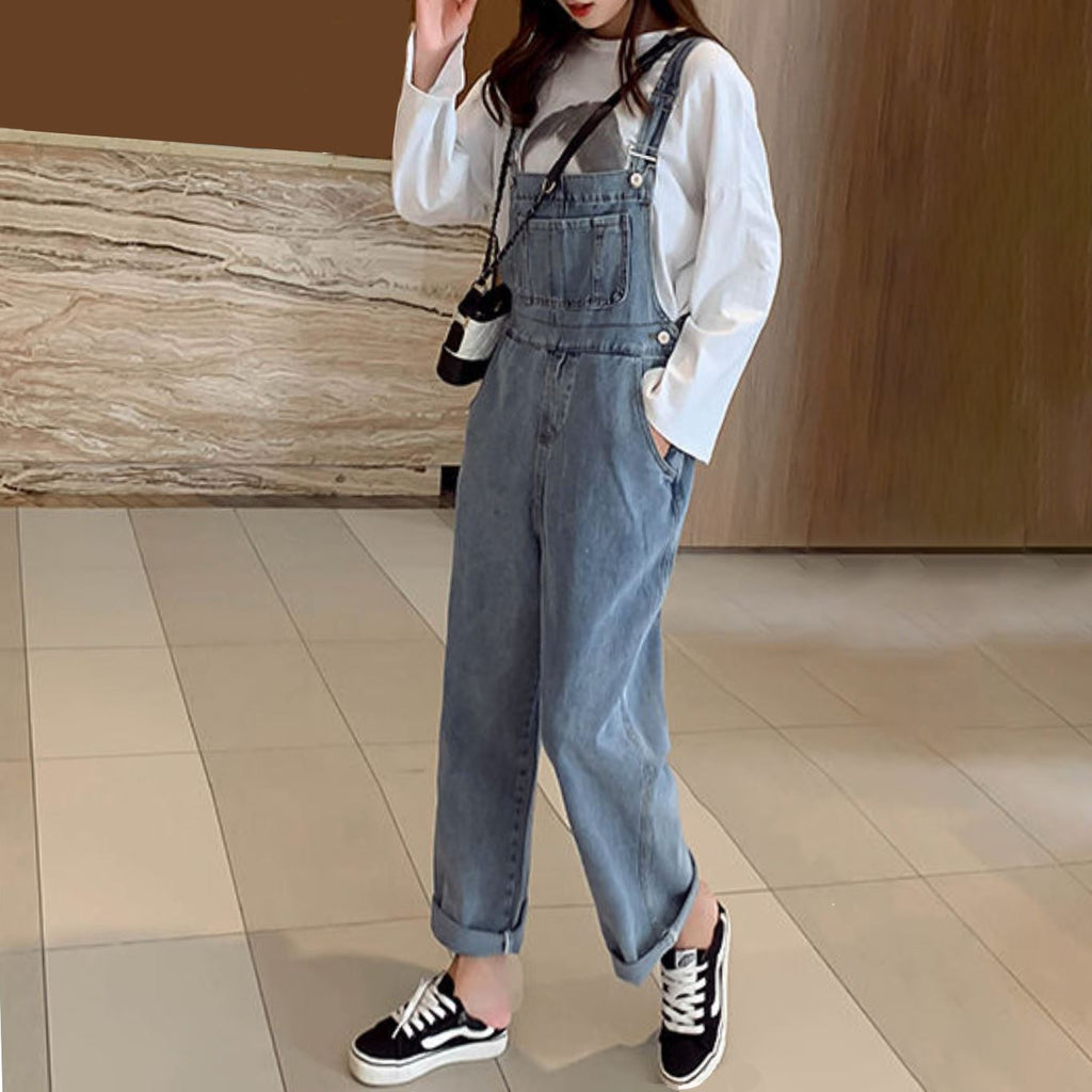 Overall Denim Pants