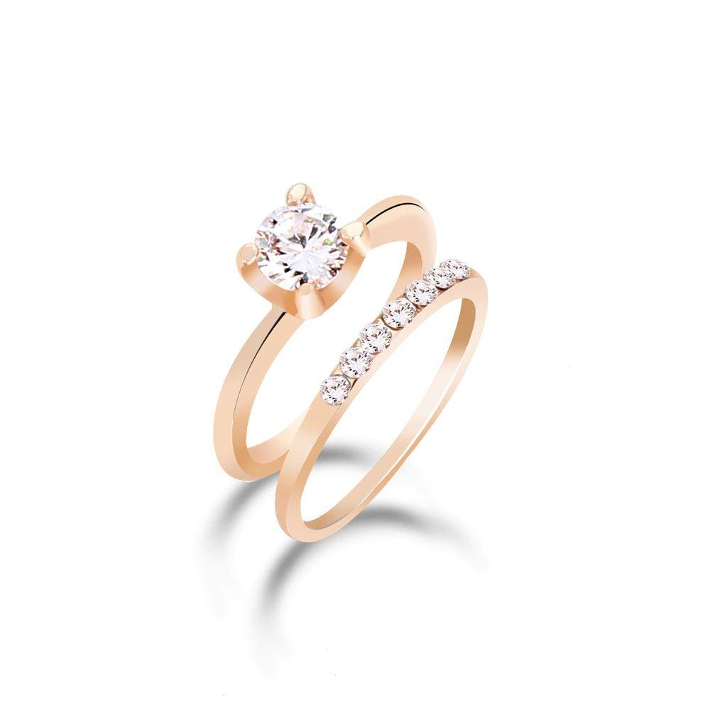 CZ Rings (2 Piece Set)