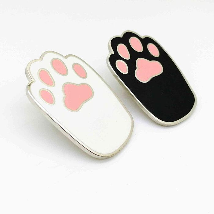 Cat Paw Enamel Metal Badge Pin