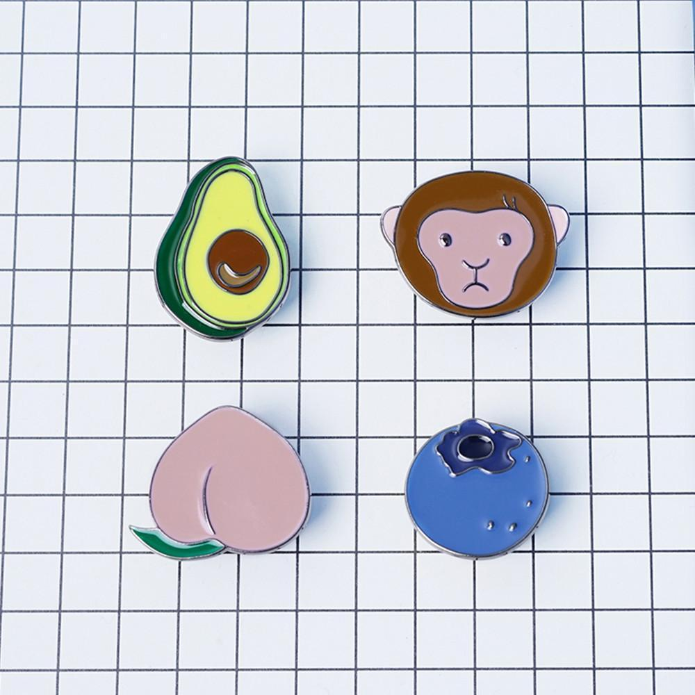 Animal & Fruit Brooches (4 Styles)
