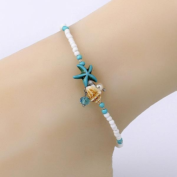 Starfish & Seashells Anklets