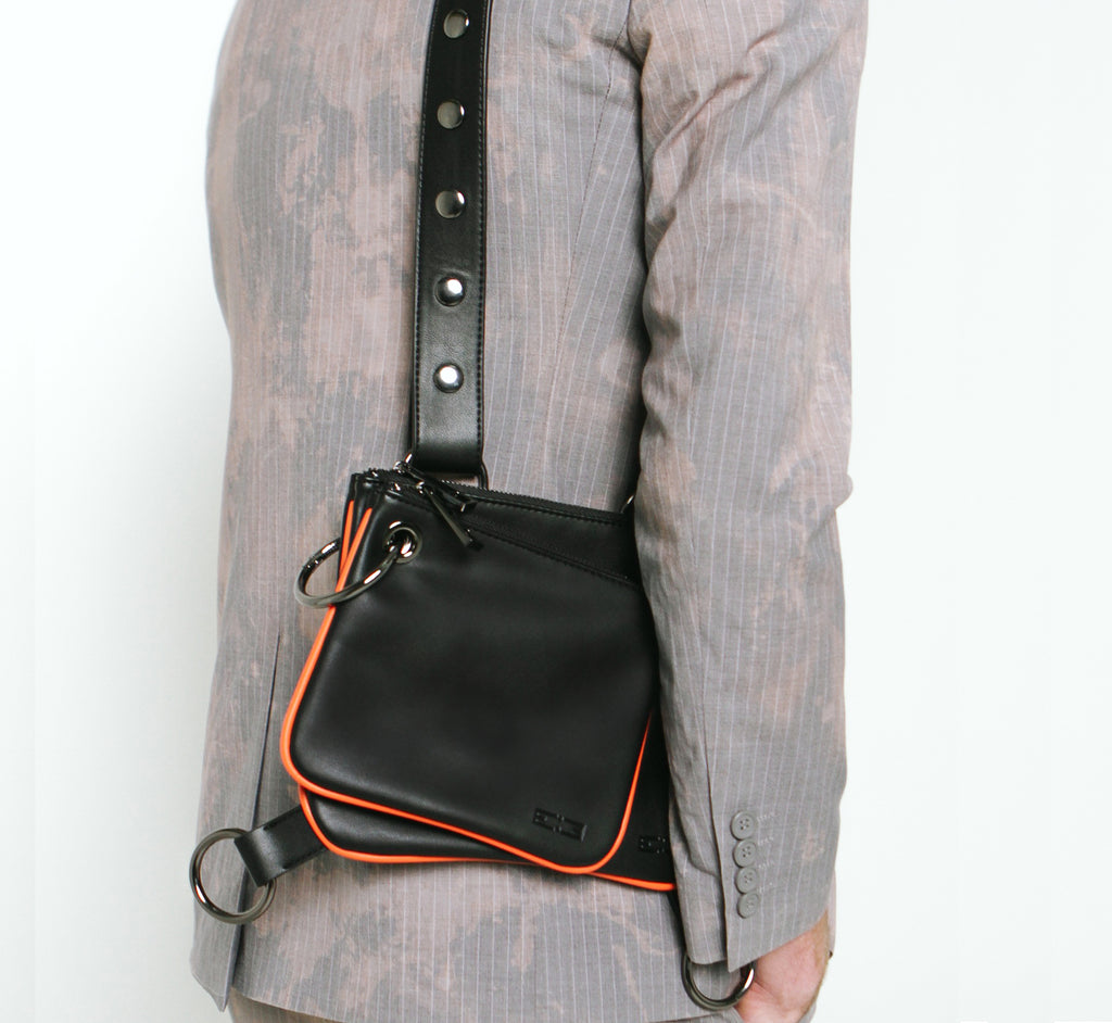 Onyx Crossbody Handbag - Black