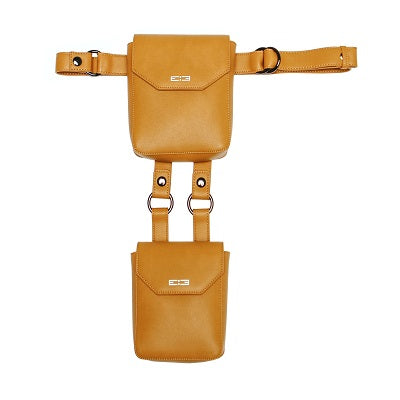Leone Double Crossbody Messenger - Yellow - BOCK:ARIE
