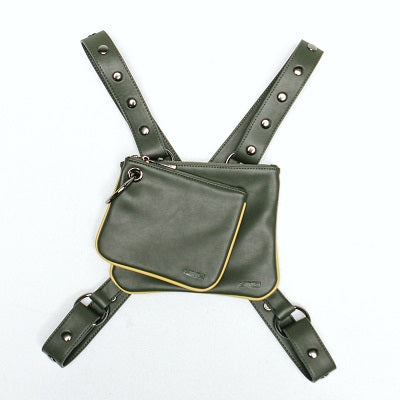Onyx Crossbody Convertible Clutch - Green - BOCK:ARIE