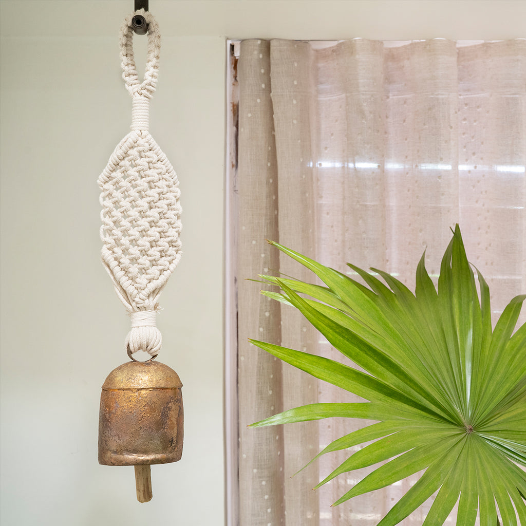 Classic-Wide Hand-Knotted Wind Chime with Metal Bell