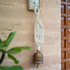 Twist and Twill Hand-Knotted Wind Chime with Metal Bell