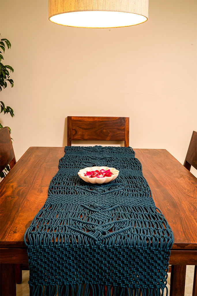 Interlaced Hand-Knotted Table Runner