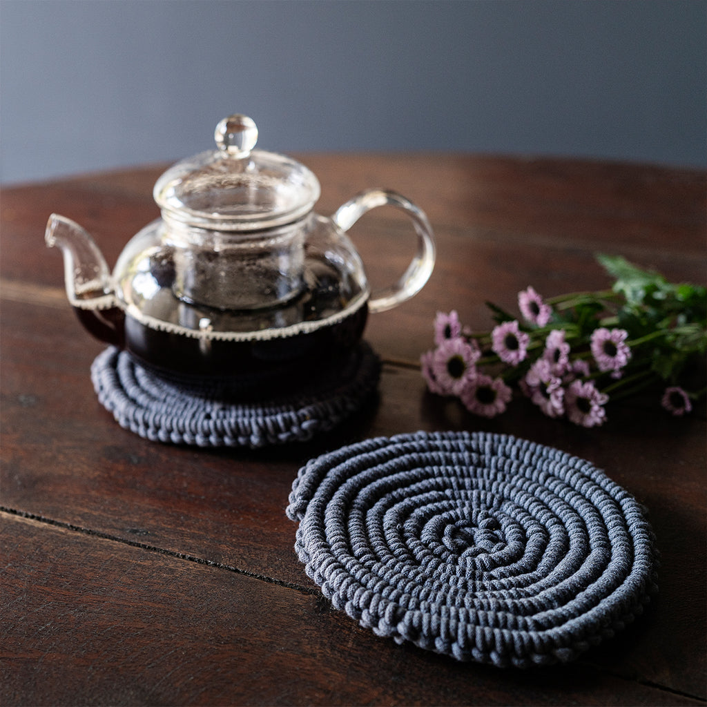 Spiral Hand-Knotted Trivet