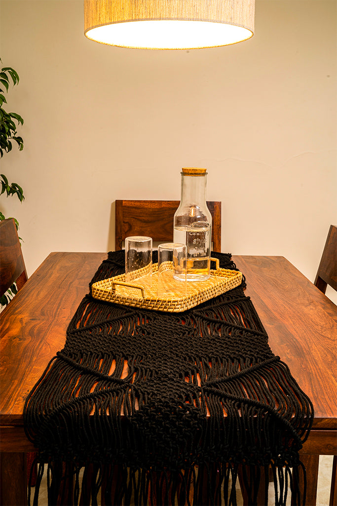 Diagnols Hand-Knotted Table Runner