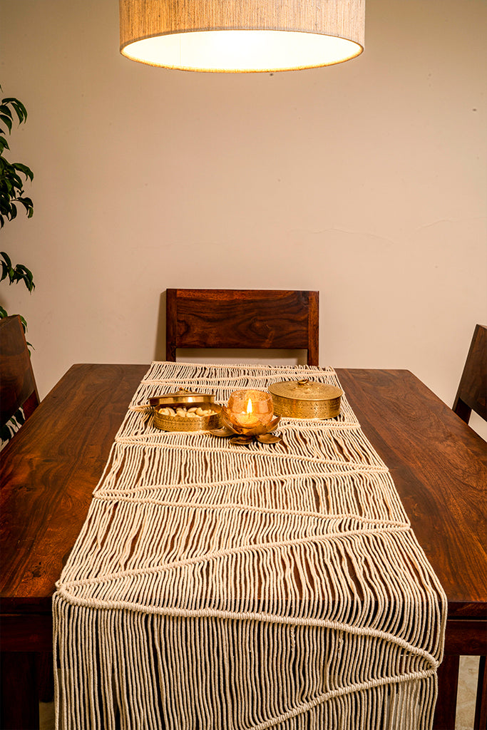 Meander Hand-Knotted Table Runner