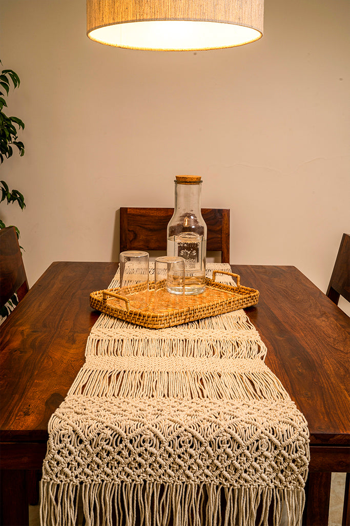 Jewel Hand-Knotted Table Runner