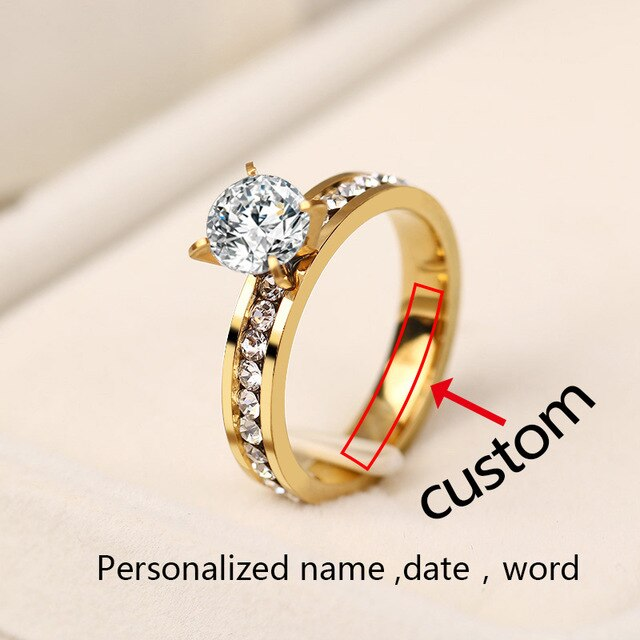 Stainless Steel Women Personalized Ring - Ylime