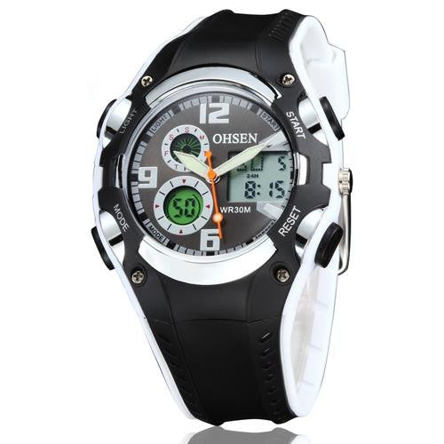 Digital Sport Watch Wristwatch Boys Kids Waterproof Digital Display Silicone Band - Ylime