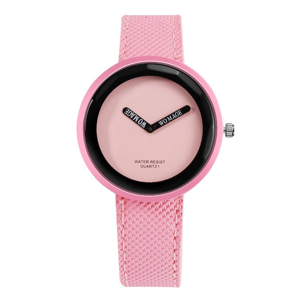 Women's Leather Watch Young Girl Watch Simple Clock - Ylime