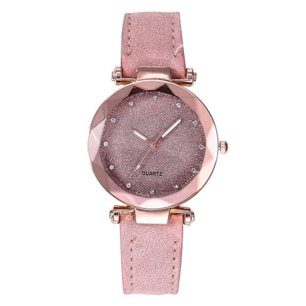 Casual Women Romantic Wrist Watch Leather - Ylime