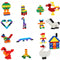 1000 Pieces Building Blocks City DIY Creative Bricks Bulk Model Figures Educational Kids Toys - Ylime