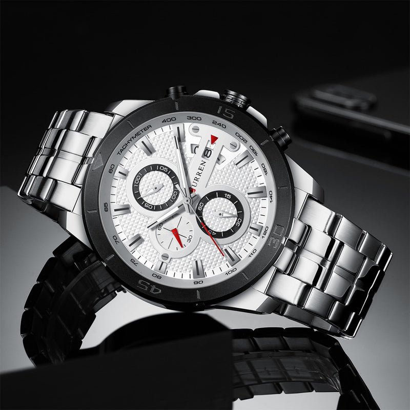 Business Men Watch Luxury Brand Stainless Steel Wrist Watch Chronograph - Ylime