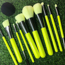 Neon Color Professional Makeup Brush Set - Ylime