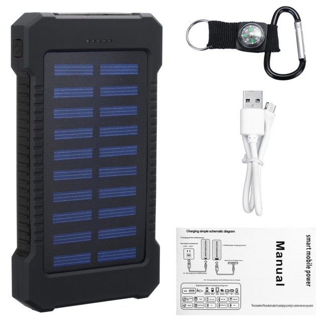 Solar Panel LED Light Powerbank 30000mAh - Ylime