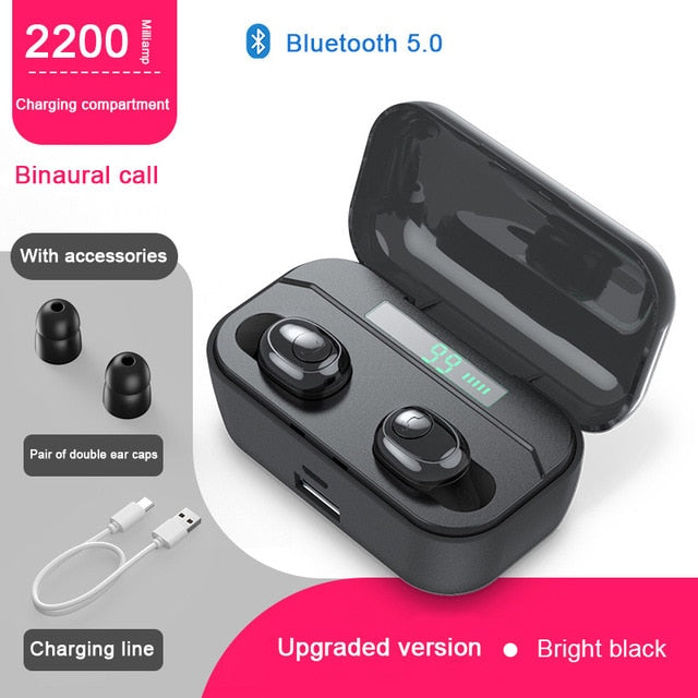 BT 5.0 Bluetooth 3D Stereo Wireless Earbuds - Ylime