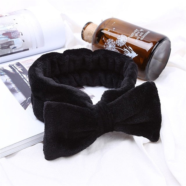 Cute Woman Fleece Hair Bow Headband - Ylime
