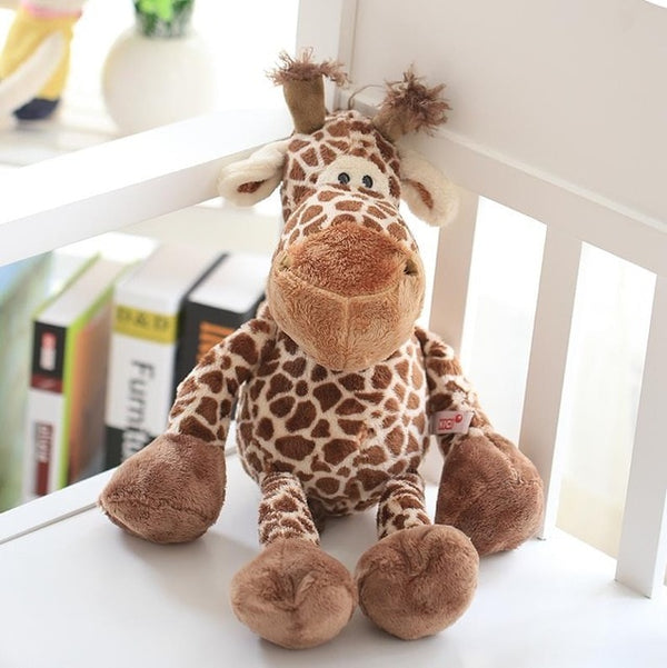 Lion Elephant Giraffe Monkey Stuffed Plush Doll Jungle Series - Ylime