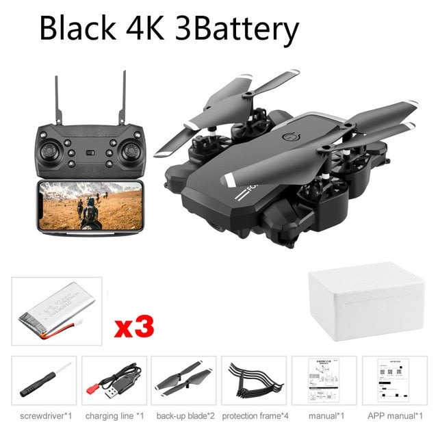 WIFI Drone 1080P 4K HD Dual Camera Quadcopter FPV - Ylime