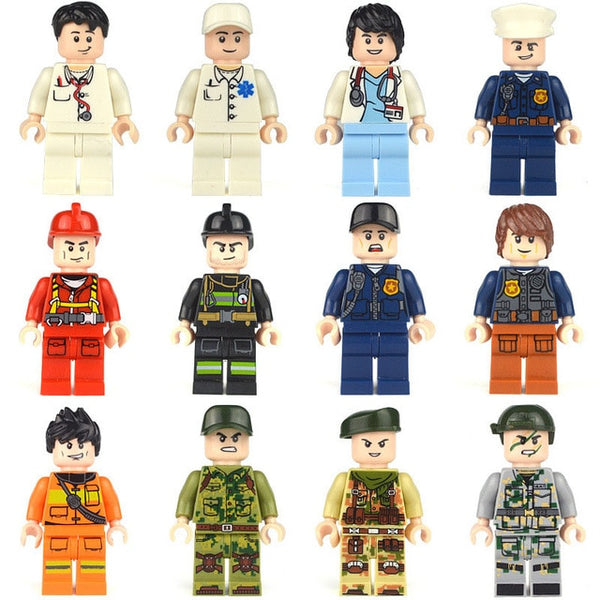 12-person series professional building blocks Mini Figure 3D - Ylime