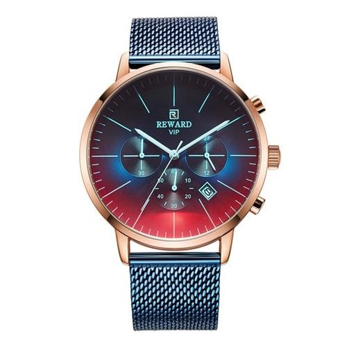 New Fashion Color Bright Glass Watch Men Top Luxury Brand Chronograph - Ylime