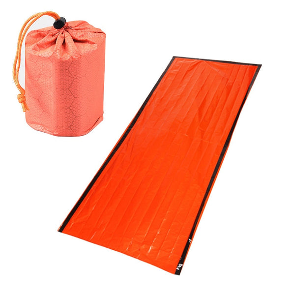 Sleeping Bag Emergency First Aid Sleeping Bag PE Aluminum Film Tent For Outdoor Camping and Hiking Sun Protection - Ylime