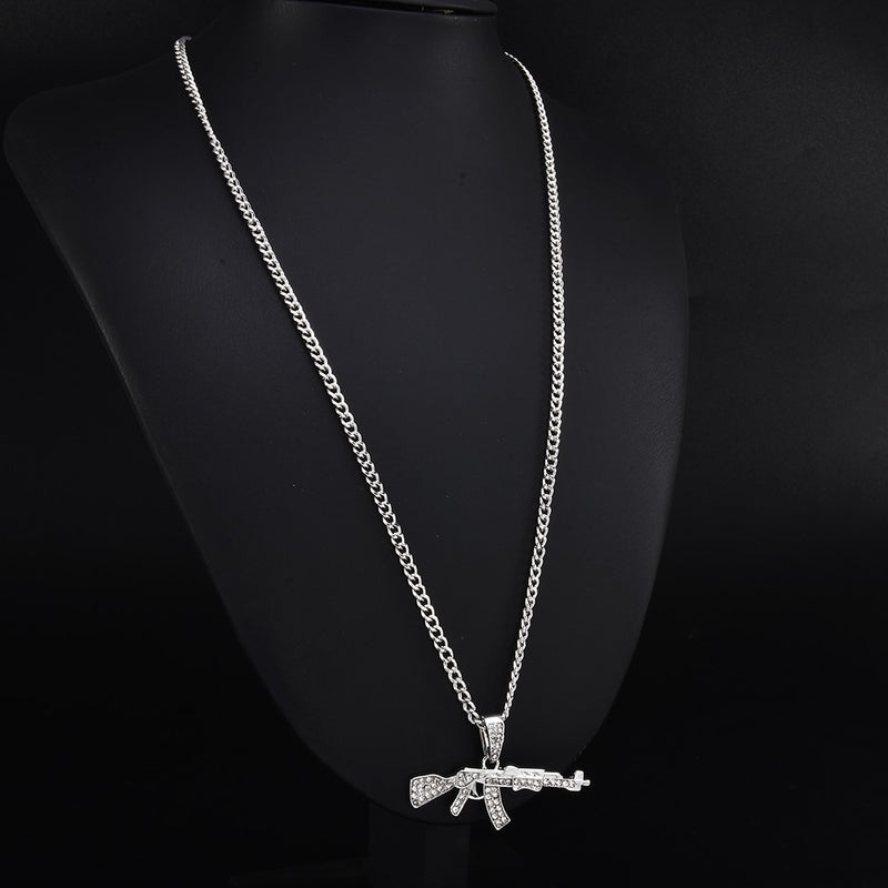 Crystal AK Shaped Trendy Pendant - Ylime