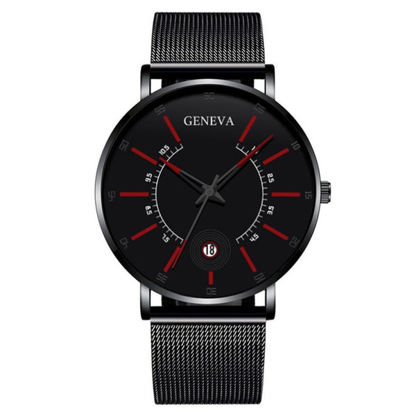 Fashion Mens Business Minimalist Watches Luxury Ultra Thin Stainless Steel - Ylime