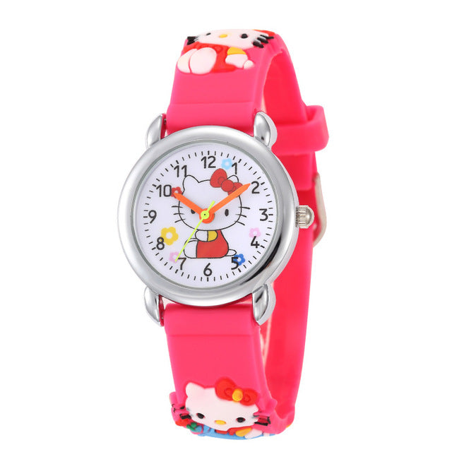Superman Watch Hello kitty Dial Quartz Watches Boys Girls - Ylime