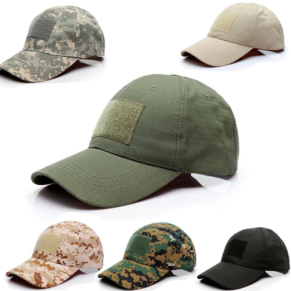 Adjustable Cap Tactical Summer Sunscreen Hat Camouflage Military Army Camo Camping Hiking - Ylime