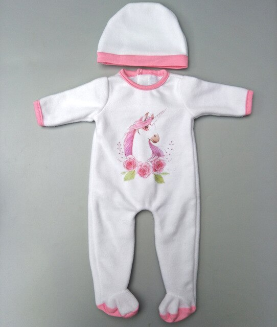Doll clothes pants pink unicorn romper clothes for 40cm 43cm baby doll - Ylime