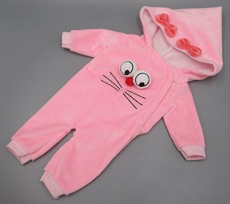 Doll clothes for 43cm toy doll accessories and cartoon big eyes crawling baby clothes - Ylime